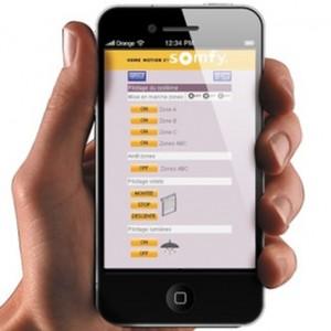 application alarme smartphone Somfy